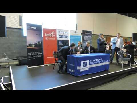 Signing of the P-TECH Australia agreement to bring industry skills to high school students