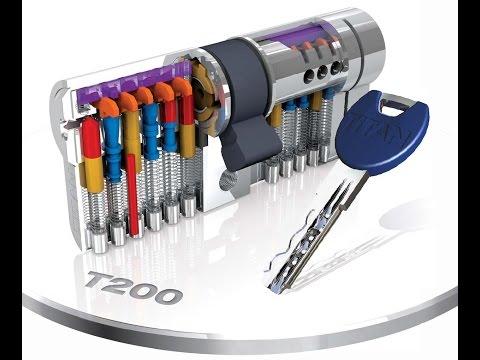 Взлом отмычками TITAN T200  Вскрытие цилиндра TITAN_T200 11PIN