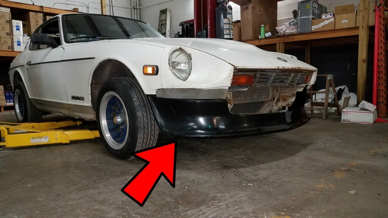 Datsun 280z Front Air Dam Install Ep 5 Youtube
