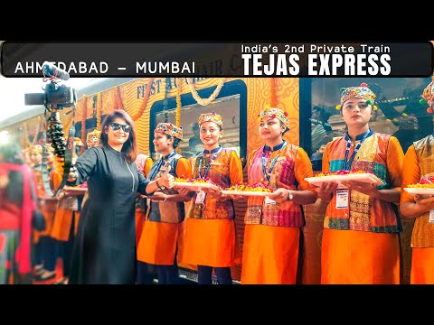 IRCTC Ahmedabad-Mumbai Tejas Express, Executive Class Journey | India's 2nd Private Train