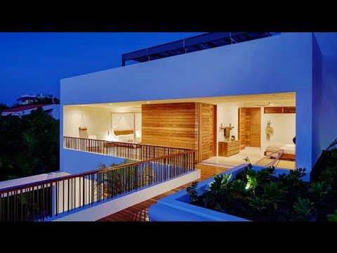 Modern Contemporary Beachfront Eco Luxury Villa Hotel In Tulum