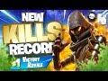 MY NEW KILL RECORD!! Fortnite Battle Royale