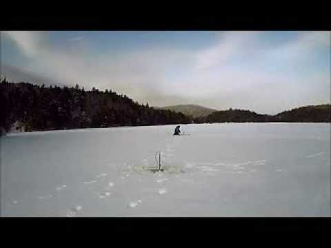 Ice fishing in maine at 15 youtube for Maine out of state fishing license