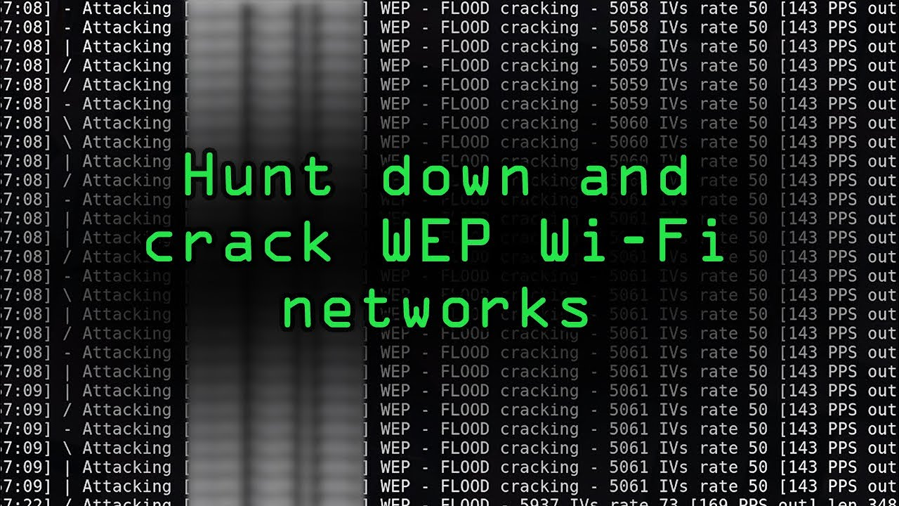 wireless wep crack - fbi version