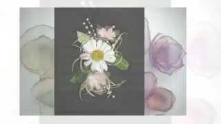 Свадебные цветы  Ромашки  Техника канзаши