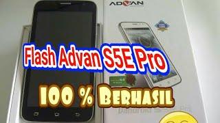 Flash Advan S5E Pro dengan Pc