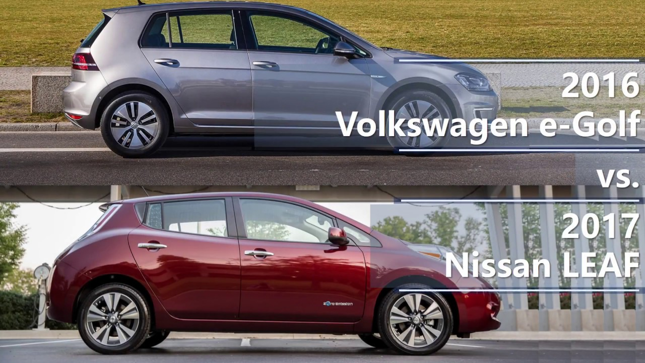 2016 volkswagen e golf vs 2017 nissan leaf comparison. Black Bedroom Furniture Sets. Home Design Ideas