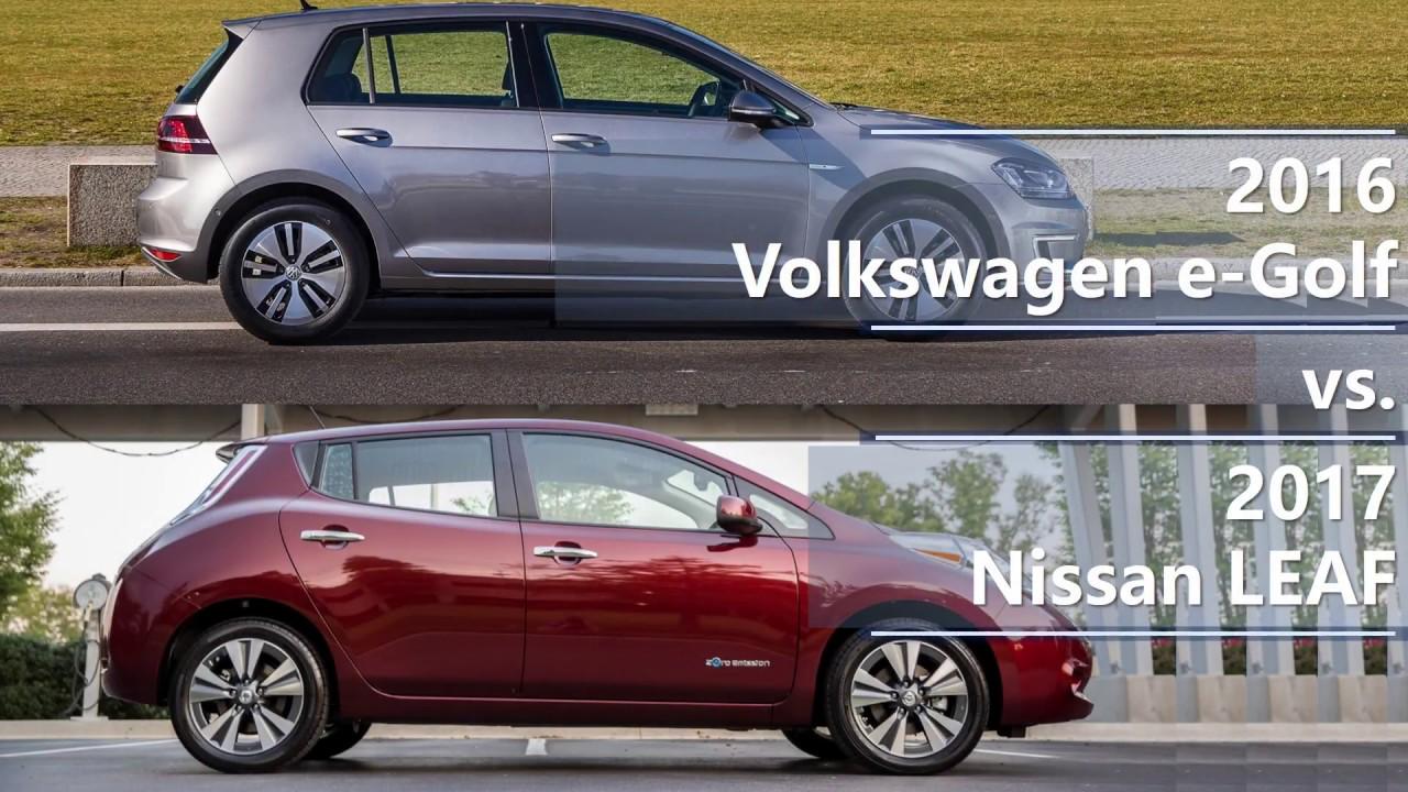2017 Nissan Leaf Comparison