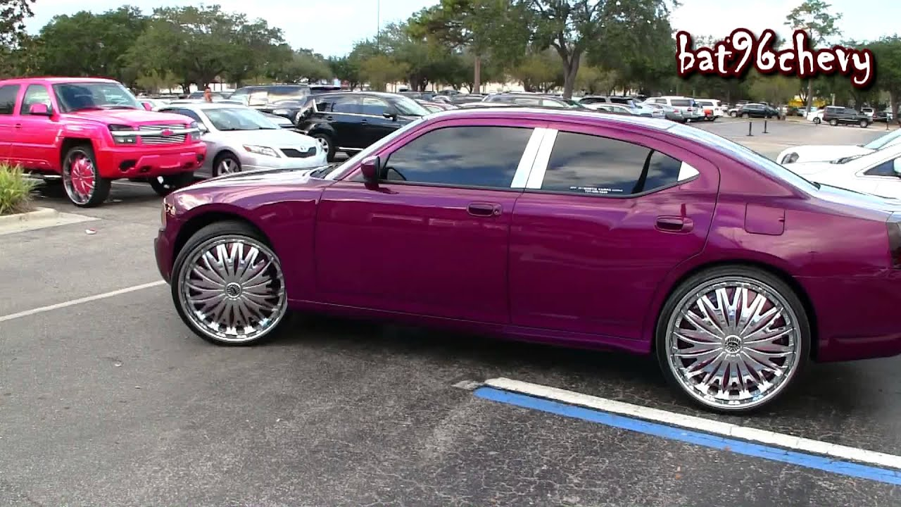 Purple Dodge Charger On 26 Quot Davin Emotion Floaters Ryding
