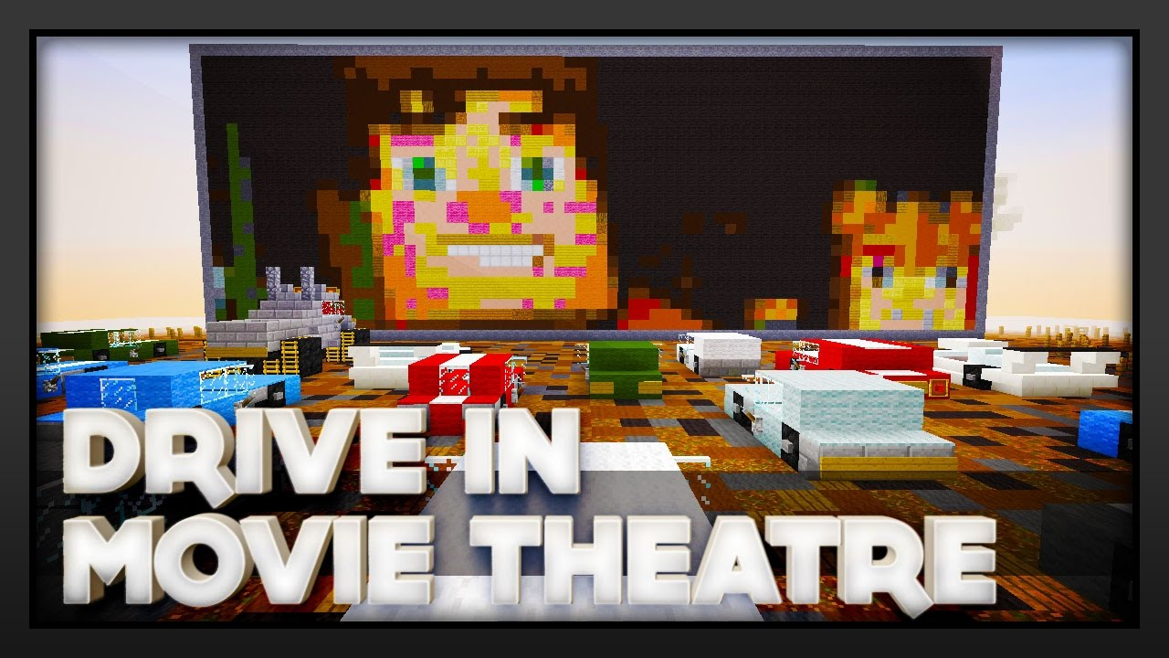 Minecraft Drive In Movie Theatre Youtube
