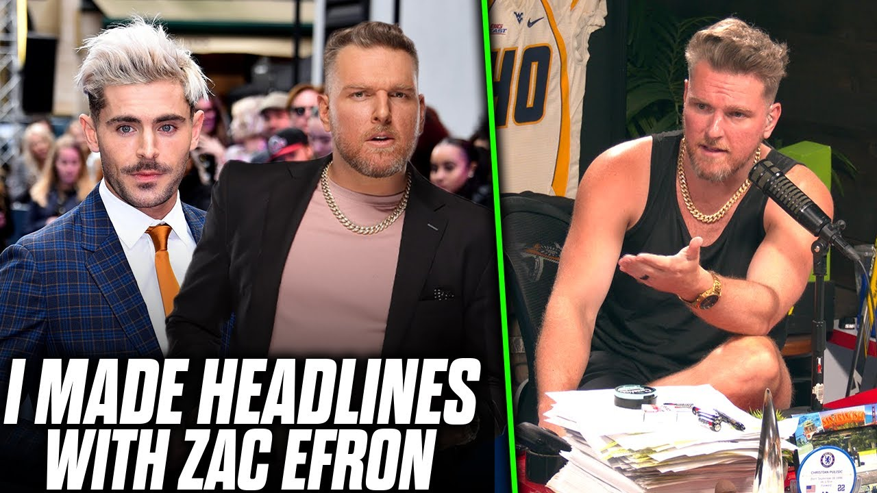 Pat McAfee Remembers The Time He Met Zac Efron, Made Tabloid Headlines