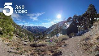 The Historic Ski Hut on Mount Baldy | KTLA 360