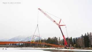 Building The Banff Pedestrian Bridge - A Time Lapse Video