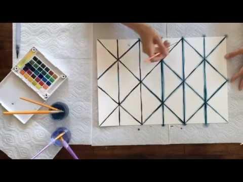 DIY Shibori-Inspired Watercolor Placemats