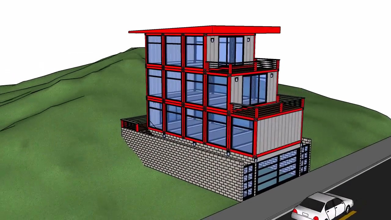 Shipping container garage workshops and homes HD  YouTube