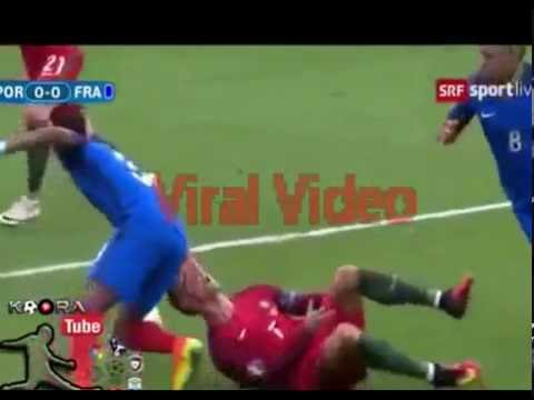 Latest Exclusive Cristiano Ronaldo injured Euro 2016 Final