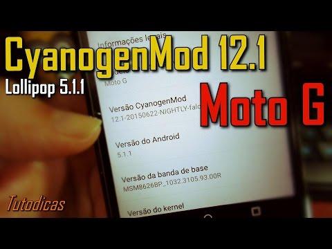 CyanogenMod 12.1 no Moto G - Impressões.