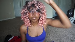 Popping pink curly wig