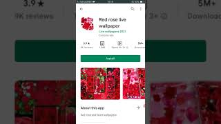 Red  Rose live wallpaper screenshot 5