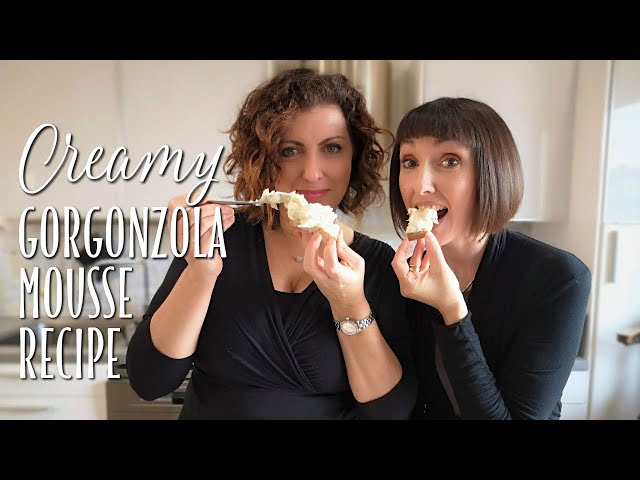 Easy Creamy Gorgonzola Mousse Recipe - Foodie Sisters in Italy