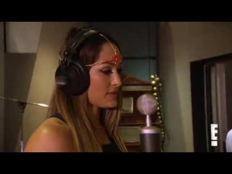 Nikki Bella hits the studio to make theme song