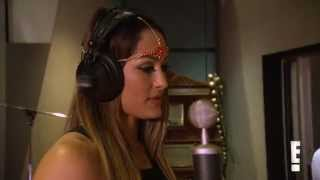 Nikki Bella hits the studio to make theme song