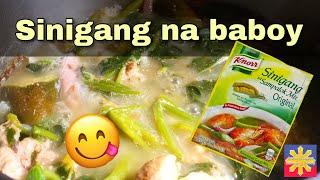 Sinigang na baboy | knorr sinigang mix sa sampalok | filipino food