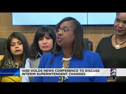 HISD holds news conference to discuss interim superintendent changes