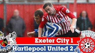 Exeter 1-2 Hartlepool (11/10/14) - Sky Bet League 2 Highlights 2014/15