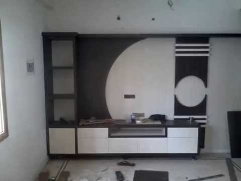Hall t v unit design by 8 streaks interiors youtube Home life furniture bangalore