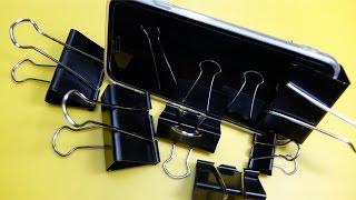 바인더 클립으로 할수 있는 활용법 생활해킹 꿀팁 스마트폰 거치대 8 life hacks for binder clips 8 easy diy