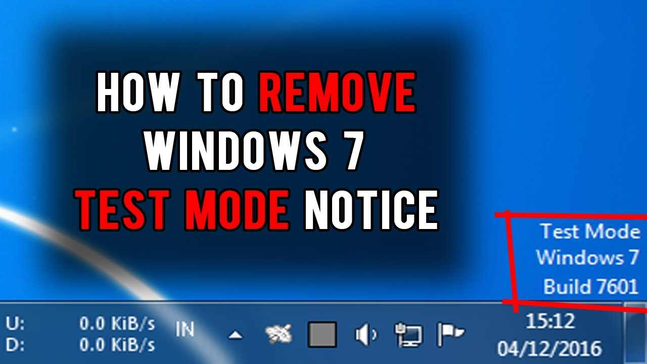 How to remove Windows 7 Test Mode Build 7601 - YouTube