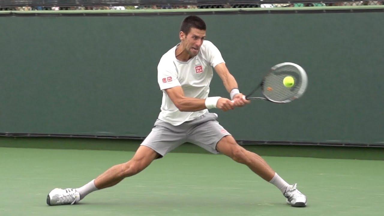 Novak Djokovic Backhand in Super Slow Motion - BNP Paribas Open 2013 ... ca35ed929e5bd