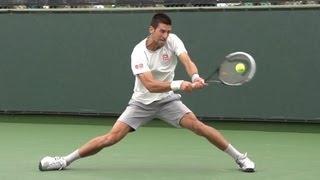 Novak Djokovic Backhand in Super Slow Motion BNP Paribas Open 2013