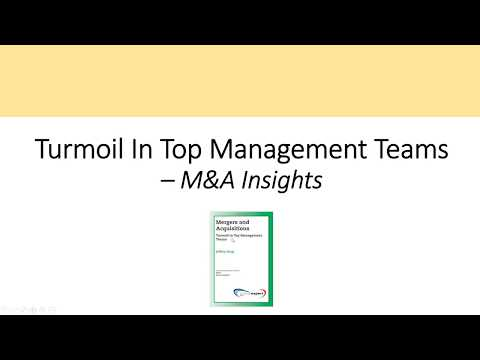Management Turnover In M&A - M&A Insights