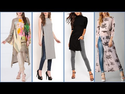Latest Style Long Shirts / Kurta / kurti Designs For Girls  | long Shirt with jeans / Trouser Trend