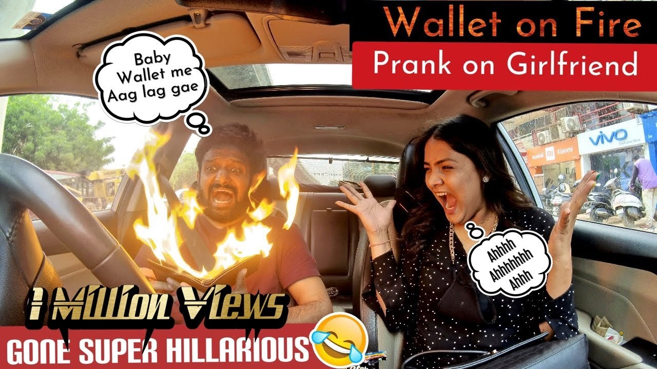 WALLET ON FIRE | PRANK ON GIRLFRIEND | EXTREMELY FUNNY REACTIONS
