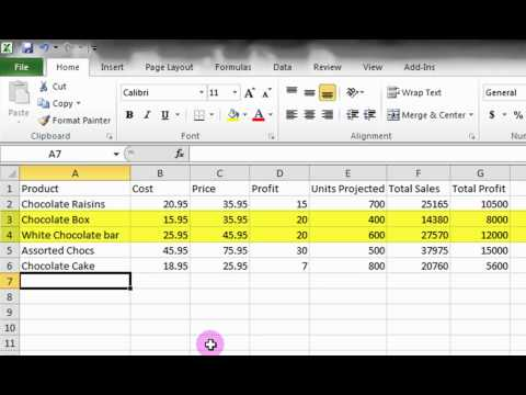 Microsoft Excel Tutorial Basic Introduction