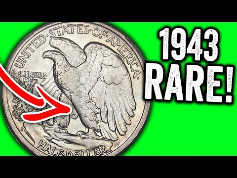 EXTREMELY VALUABLE HALF DOLLAR COINS WORTH MONEY - 1943 WALKING LIBERTY HALF DOLLAR VALUE
