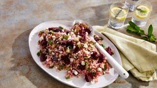 Summer Rice Salad - Poh's SunRice Brown Rice, Feta & Beetroot Salad