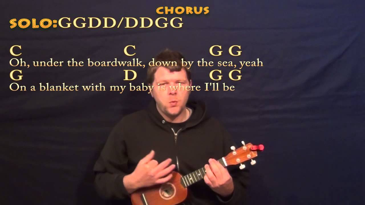 Under The Boardwalk The Drifters Soprano Ukulele Cover Lesson