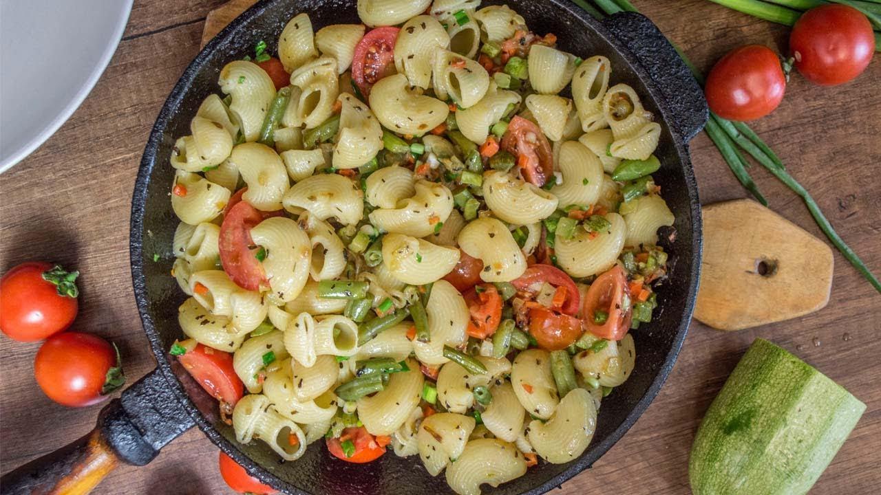 Обалденные макароны с овощами