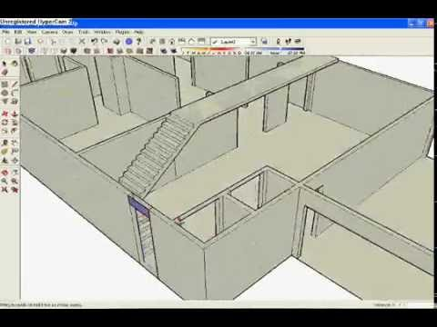Building a house in sketchup youtube for Sketchup building