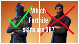 The difference between OG and rare Fortnite skins