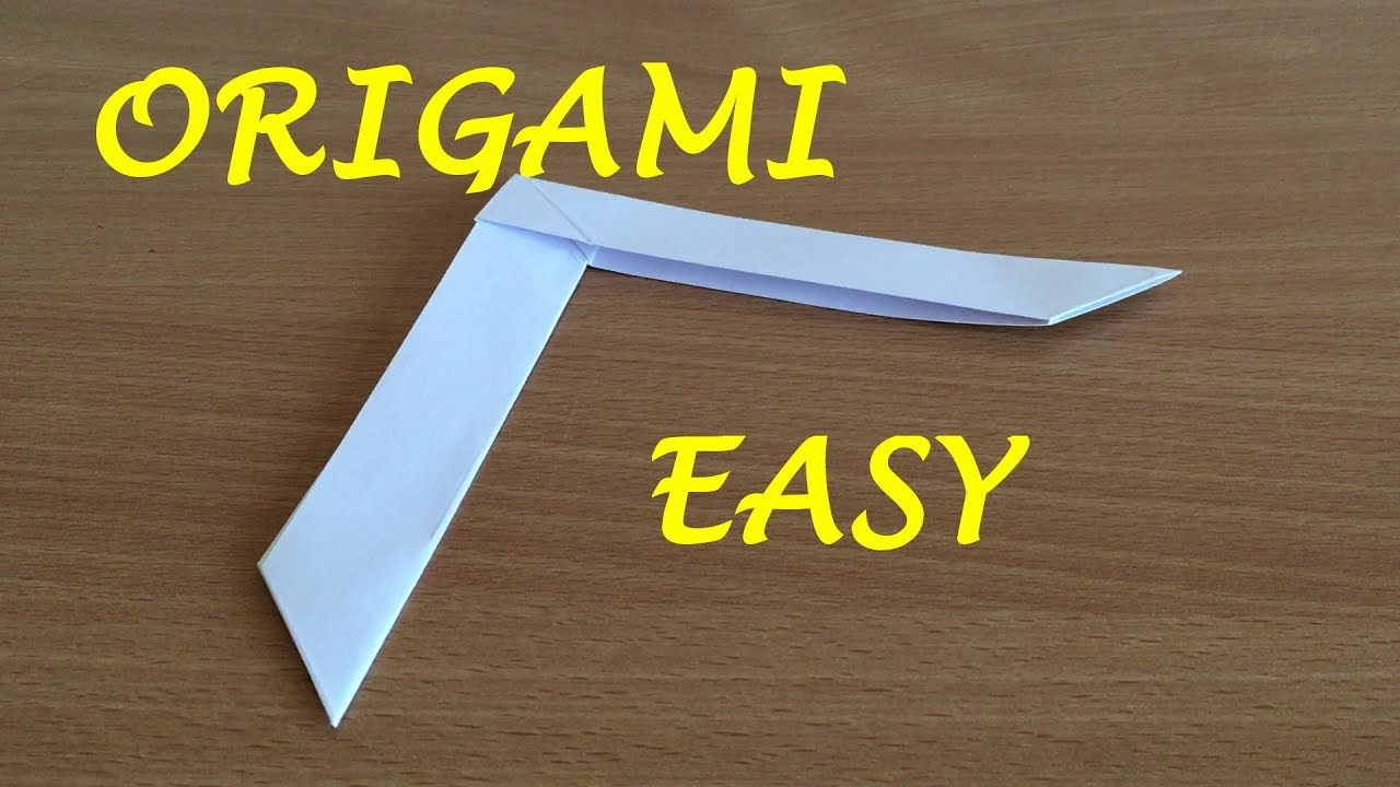 how to make an origami boomerang youtube