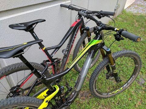 Cross Country vs Trail Bike - Lap Times