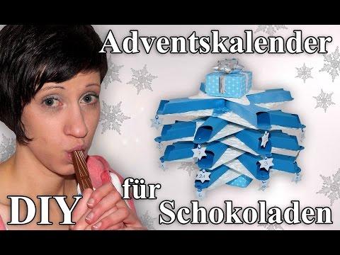 Schokoladen Weihnachtskalender.Adventskalender Für Schokolade Bastelanleitung Youtube