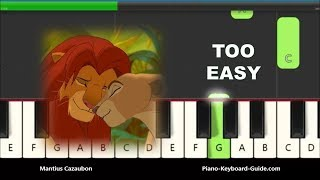 Download lagu Can You Feel The Love Tonight - Lion King Right Hand Slow Very Easy Piano Tutorial