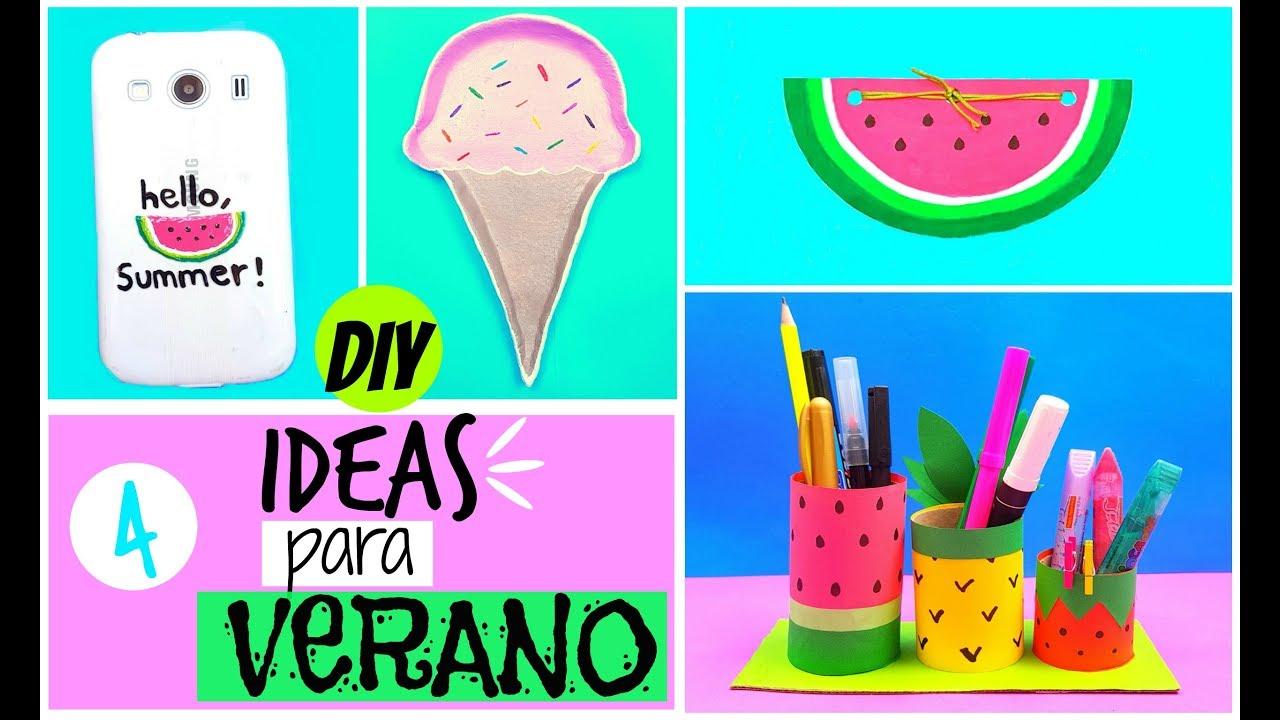 4 ideas para verano 2017 manualidades f ciles para hacer - Ideas para hacer manualidades en casa ...