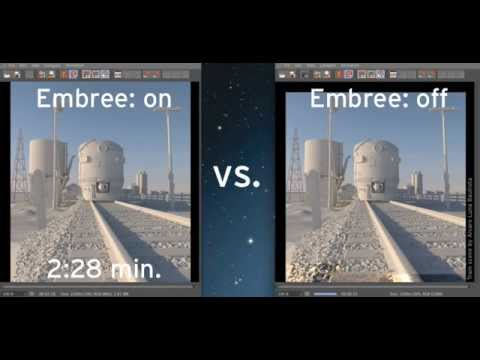 New in CINEMA 4D R15 - Render Improvements: Embree Comparison